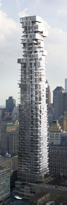 56 Leonard Street Tower, New York City by Herzog & de Meuron Architects :: 60 floors, height 250m :: under construction