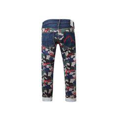Camo-Back Panel Denim Jeans
