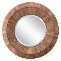 Andrea Decorative Round Wood Mirror - 31.5 diam. In. | from hayneedle.com