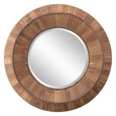 Andrea Decorative Round Wood Mirror - 31.5 diam. In. | from hayneedle.com