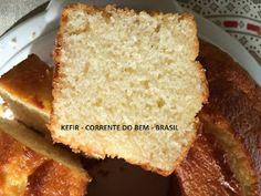 BOLO DE ARROZ COM KEFIR DE LEITE Food Fantasy, Kombucha, Cornbread, Banana Bread, French Toast, Low Carb, Breakfast, Ethnic Recipes, Desserts