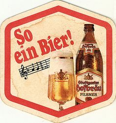 Stuttgarter Hofbrau Pilsner - beer coaster - front Pilsner Beer, Beer Coasters, Germany, My Favorite Things, Random, Deutsch, Beer Bottle Caps
