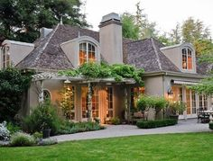 There are few things finer than French architecture. French country exterior design homes are a perfect marriage of traditional values and innovation. French Cottage, French Country House, Country Homes, Country Living, Low Country, Modern Country, French Country Exterior, Country Interior, Country Decor