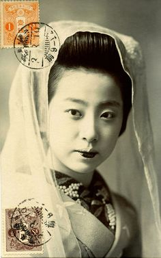 Osaka Maiko wearing a Tenugui 1914 | Flickr - Photo Sharing!