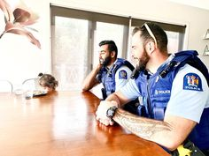 With all that's happening in America, I thought this photo that I never got around to posting was appropriate. 👮♀️ 🚓  Lennox didn't know what to do with herself when two big Kiwi policemen came by for a visit. 😂 She wouldn't even look at them! 🙈 I guess when you actually see real life superheroes in the flesh it can be a bit intimating for a 3 year old. 🤣  What a shame that not all cops can be as lovely as these guys.  When it comes to cops in the USA vs New Zealand, there are quite a… In The Flesh, Cops, Kiwi, New Zealand, Real Life, Police, Things To Come, America, Shit Happens