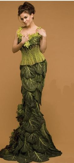 vegetable dress - note the asparagus corset!