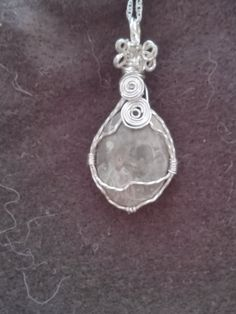 Wire Wrapped Pendant Necklace.  Elegant Shades by AprilSnowJewelry, $19.75