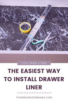 We share the easiest way to install drawer liner! Find inspiration on using drawer liner and maintaining neat and organized drawers. Be sure to follow The Organized Mama for more helpful tips and organization hacks. Kids Bedroom Organization, Linen Closet Organization, Small Space Organization, Kitchen Organization, Organization Hacks, Organizing, Move In Cleaning, Cleaning Hacks, Lining Drawers