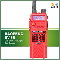 Red New Baofeng UV-5R with Long Type Li-ion Battery, 136-174 MHz & 400-520 MHz Ham Amateur Hunting Police Hotel Wakie Talkie #Affiliate