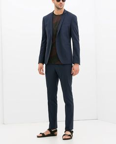 Cobalt blue suit, Zara USA