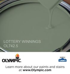 LOTTERY WINNINGS OL742.5 is a part of the greens collection by Olympic® Paint.