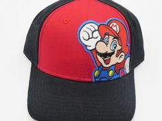 Nintendo Super Mario Red Bioworld Youth Childrens Size Snapback Hat  #Bioworld #BaseballCap  #Nintendo Super Mario