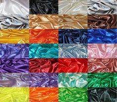 SILKY SATIN FABRIC per 1m METRE Plain Luxury Dress & Craft Material 150cm Wide in Crafts, Fabric   eBay