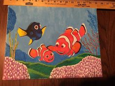 14x 11 Finding Nemo Canvas Acrylic Painting Framed Shortiez Ink Pixar #Disney from $25.0