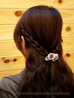 Barrette hair clip hair accessories handmade by Joyloveclay, $25.00