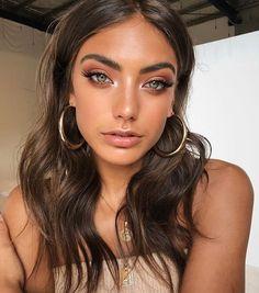 Brown hair, prom makeup, naturel eye makeup, eye makeup tutorial - Make Up Makeup Trends, Makeup Inspo, Makeup Inspiration, Makeup Ideas, Makeup Tips, Beauty Make-up, Beauty Hacks, Hair Beauty, Beauty Tips