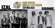 2 diciembre #Malaga, IZAL y Sidonie en concierto con Cervezas San Miguel