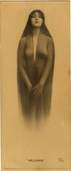 """Kaloma"" This photogravure of a semi-nude woman was published on the cover of I Married Wyatt Earp. Editor Glen Boyer insisted it was a picture of Josephine Earp, but could not provide any proof."