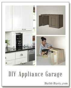 Build this DIY Appliance Garage - Building Plans and Instructions by @Build Basic www.build-basic.com