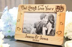 Owl Always Love You Wood Picture Frame - Personalized Engraved Gift