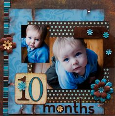 scrapbook layout. Like the idea of doing a scrapbook page for each month