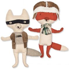 Gifts for Babies, Kids, Tweens, and Teens - Cotton and polyester fox dolls from #InStyle