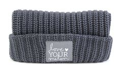 Love Your Melon Charcoal Cuffed Hat.Fifty Percent (50%) of net proceeds from the sale of this product will be donated equally to CureSearch for Children's Cancer and the Pinky Swear Foundation to fund cancer research initiatives and provide immediate support for families.