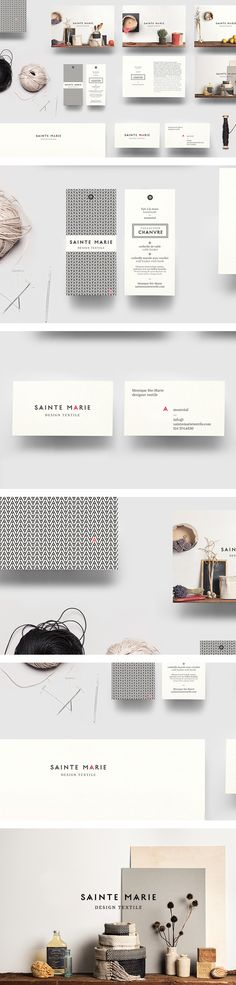 Sainte Marie identity | #stationary #corporate #design #corporatedesign #identity #branding #marketing < repinned by www.BlickeDeeler.de | Take a look at www.LogoGestaltung-Hamburg.de