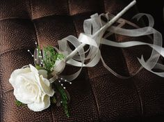 BURLAP Rose Flower Girl Wedding Wand Your Choice of by Wedideas