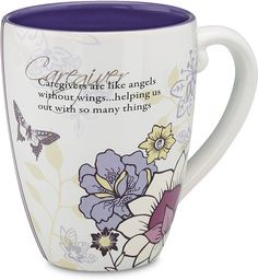 Caregivers are like angels without wings...helping us out with so many things mug