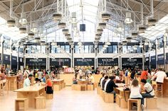 The buzzy, hopping Mercado da Ribeira, one-stop shop for tasting fare from Lisbon's top chefs and gourmet outposts. What a genius idea!