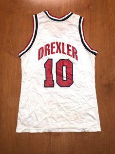 2f3793e1b93 Vintage 1992 Clyde Drexler Dream Team Champion Jersey Size 36 usa charles  barkley scottie pippen mag