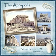 Travel Scrapbook Pages, Vacation Scrapbook, Wedding Scrapbook, My Scrapbook, Scrapbook Designs, Scrapbook Page Layouts, Singapore Travel, Acropolis, Creative Memories