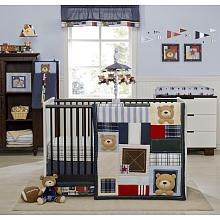 Kids Line - Oxford Bear 4-Piece Crib Set. My favorite for a boy!