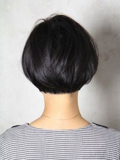 Back of bob cut. Short bob cut tapered and styled nicely.