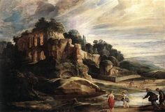 Peter Paul Rubens Landscape with the Ruins of Mount Palatine in Rome 1608 Baroque