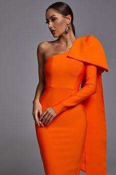 Elegant Outfit, Elegant Dresses, Pretty Dresses, Orange Dress, Classy Outfits, African Fashion, Dress To Impress, High Fashion, Evening Dresses