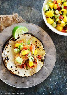 Shrimp Tacos with Mango Salsa » Fit, Fun & Delish!