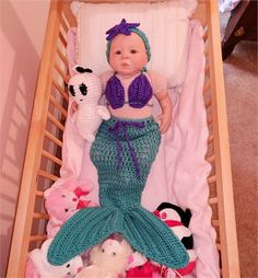Mermaid Photo Props/Mermaid Photography Props/Crochet Mermaid Outfit/Crochet Baby Mermaid Outfit/Baby Photography/Mermaid Costume/Mermaid Tail   Gorgeous crochet mermaid costume for a baby girl! It comes with a crochet bra top and a cute crochet head piece. It will be the best baby shower gift for Mom who likes their baby in mermaid photo props.   Sizes available are:   Newborn   Baby 0-3 M   Baby 3-6 M   Measurements:   -Seashell top is about 6.5 wide (across ch...