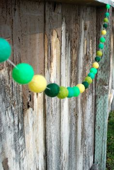 St. Patrick's Day Felt Ball Garland  6 ft by TheFickleFeltTree, $22.00