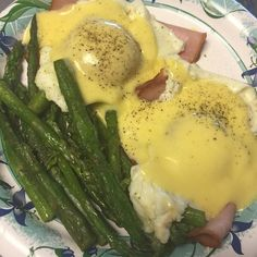 Dinner was pan fried asparagus and keto eggs Benedict (no bread) the sauce is from Trader Joes! Easy and so good! #atkins #lchf #keto #ketodiet #lowcarb by kerreliz