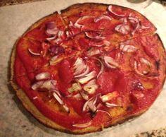 Pizza di cavolfiore vegan