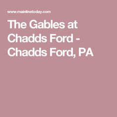 the gables at chadds ford chadds ford pa. Cars Review. Best American Auto & Cars Review
