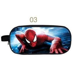 Spiderman double zipper School Pencil Bag