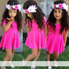 dress and flower crown - so cute!