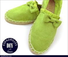 Easy #sewing project - espadrilles! Great all year long! Holiday DIY Espadrilles with Dritz | Sew4Home