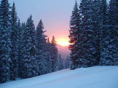 Winter sunset in Crested Butte