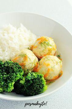 Pulpety z kurczaka w lekkim sosie koperkowym (bez śmietany) Broccoli, Meal Planning, Meal Prep, Cake Recipes, Clean Eating, Food And Drink, Meals, Vegetables, Cooking