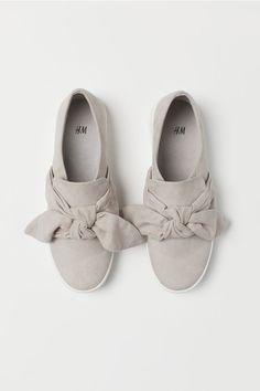 2c229249a Slip-on Shoes - Black faux suede - Ladies