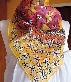 ArtStella / Hodvábna šatka: V žltej nálade